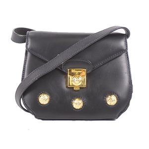 Salvatore Ferragamo Shoulder Bag Women's Leather Pochette,Shoulder Bag Black