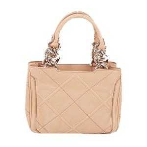 Salvatore Ferragamo Hand Bag Women's Leather Handbag Pink Beige