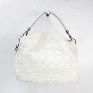 Christian Dior Leather Shoulder Bag White