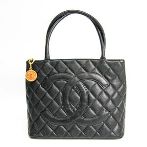 シャネル(Chanel) キャビア・スキン 1804復刻 A1804 レザー ハンドバッグ ブラック