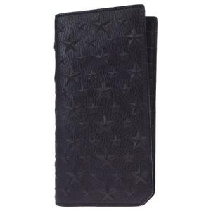 Jimmy Choo Star Pattern Leather Long Wallet (bi-fold) Black