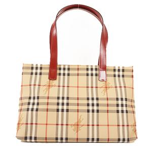Auth Burberry Nova Check Tote Bag