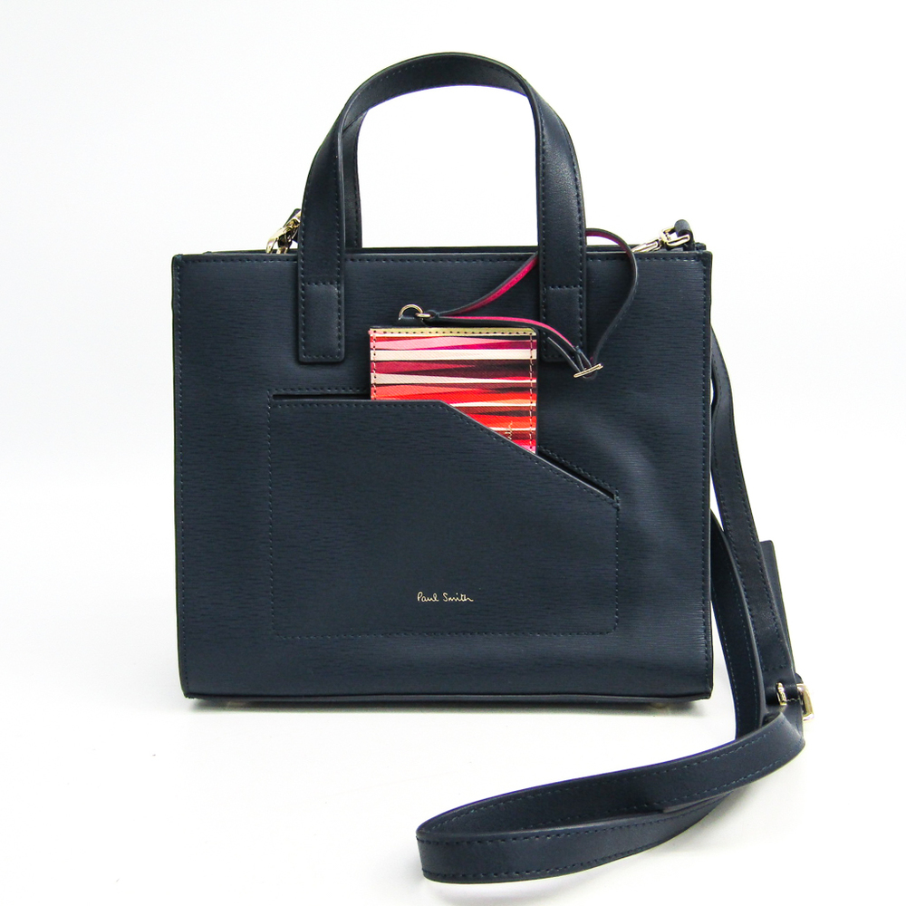 Paul Smith PWR500 Women's Leather Handbag Navy