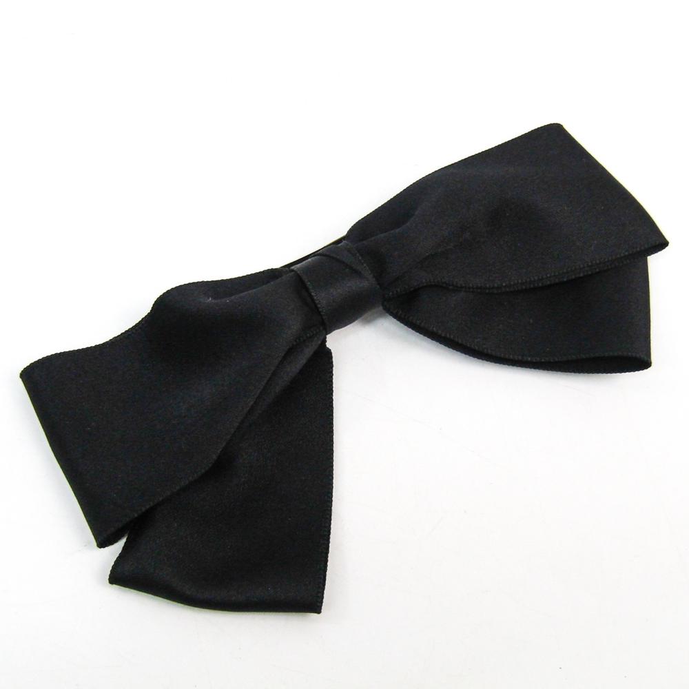 シャネル(Chanel) テキスタイル レディース バレッタ ブラック リボン