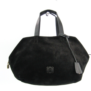 Loewe Origami Women's Leather,Suede Handbag Black