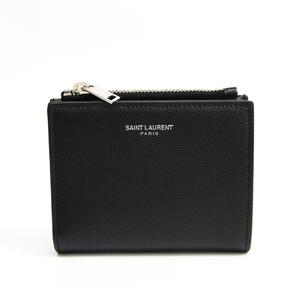 サン・ローラン(Saint Laurent) 556260  型押しカーフ 財布(二つ折り) ブラック