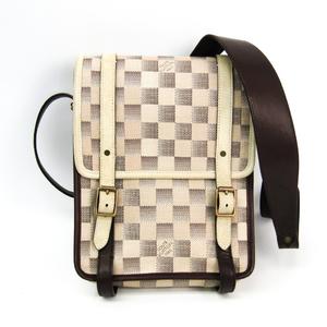 Louis Vuitton Damier Lune Trotteur N48184 Unisex Shoulder Bag Brown,Ivory