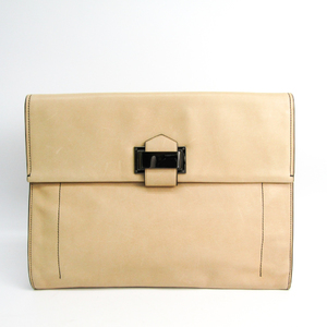 Reed Krakoff 20683 Leather Clutch Bag Beige