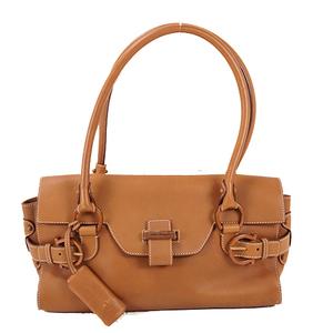 Salvatore Ferragamo Gancini Shoulder Bag Women's Leather Handbag,Shoulder Bag Brown