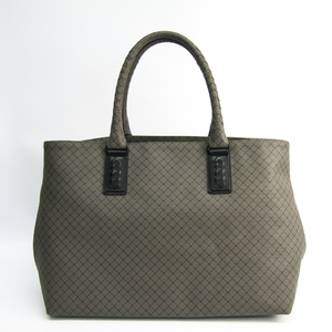 Bottega Veneta MARCOPOLO 222498 Men's PVC,Leather Tote Bag Black,Gray