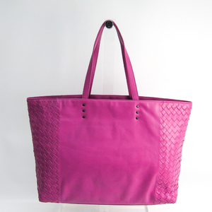 Bottega Veneta Intrecciato Women's Leather Tote Bag Light Purple