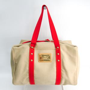 Louis Vuitton Antigua Sac Weekend M40029 Unisex Boston Bag Red,Rouge