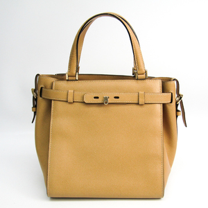 Valextra B Cube V5C67 Women's Leather Handbag Beige