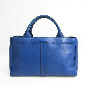Valextra J Bag V5U41 Women's Leather Handbag Royal Blue