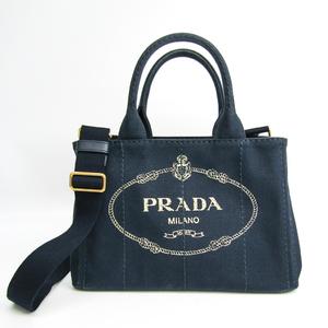 Prada Canapa 1BG439 Women's Canapa Tote Bag Navy