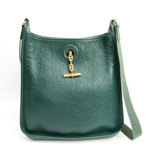 Hermes Vespa PM Women's Buffalo Leather Shoulder Bag Green