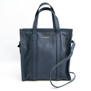 バレンシアガ(Balenciaga) バザール ショッパー S 443096 ユニセックス レザー ハンドバッグ ネイビー