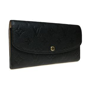 ルイ・ヴィトン(Louis Vuitton) M62369 ポルトフォイユ・エミリー モノグラムアンプラント 長財布(二つ折り) ブラック