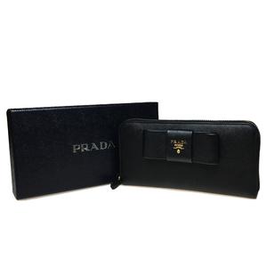 プラダ(Prada) Saffiano 1ML506 レザー 長財布(二つ折り) Nero(ネロ)