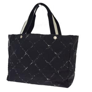 Chanel Travel Line Jacquard Tote Bag Black