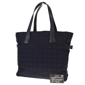 Chanel New Travel Line Jacquard Tote Bag Black