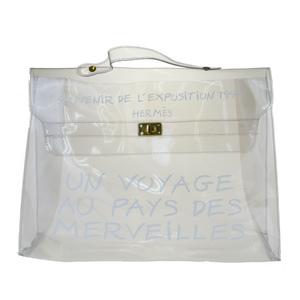 Hermes Kelly Vinyl Handbag Clear