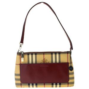 Burberry Nova Check PVC,Leather Shoulder Bag Beige