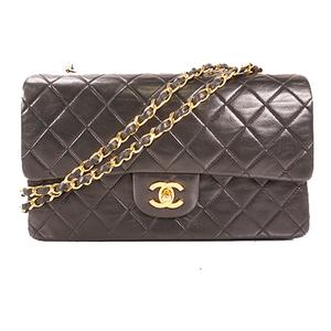 Auth Chanel Matelasse W Flap W Chain Shoulder Bag
