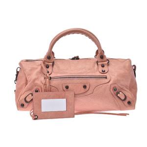 バレンシアガ(Balenciaga) ツィギー レザー バッグ ピンク
