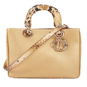 Auth Christian Dior Diorissimo Handbag Women's Leather Handbag,Should