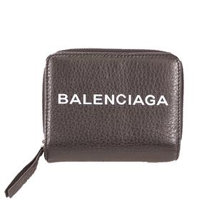 バレンシアガ 二つ折り財布 レザー ブラック