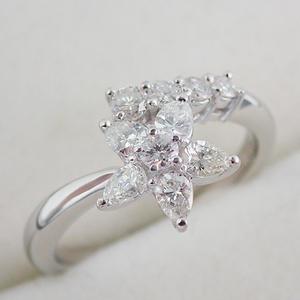リング Pt900 ダイヤモンド 0.62ct 10号