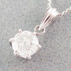 ネックレス Pt850  Pt900 ダイヤモンド0.554ct