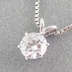 ネックレス Pt850 ダイヤモンド 0.46ct