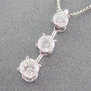 ネックレス Pt850 ダイヤモンド 0.70ct