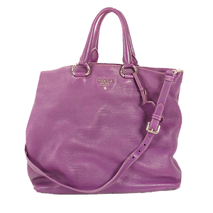 Prada 2WAYbag Women's Leather Handbag,Shoulder Bag,Tote Bag Purple