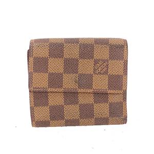 ルイヴィトン 二つ折り財布 ダミエ ポルトモネビエカルトクレディ N61652