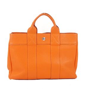 Hermes Fool ToePM Women's Togo Leather Handbag,Tote Bag Orange
