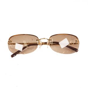 Chanel Women's Sunglasses Gold sunglasses