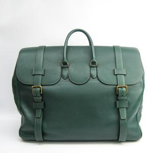 Hermes Drag Voyage 55 Men's Ardennes Leather Handbag Green
