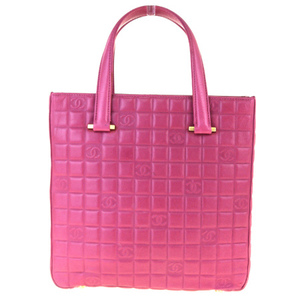 Chanel Coco Mark Leather Handbag Pink