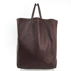 Celine Cabas Unisex Leather Tote Bag Bordeaux