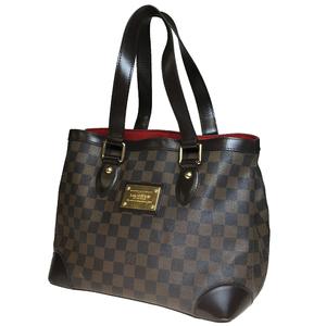 Auth Louis Vuitton Damier N51205 Hampstead PM Women's Handbag Ebene