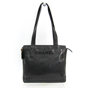 Chanel Women's Caviar Leather Tote Bag Black