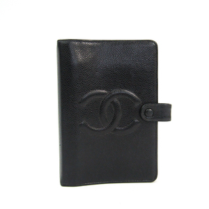 Chanel Bible Size Planner Cover Black 7013R
