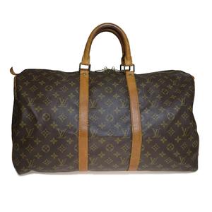 Auth Louis Vuitton Monogram M41426 Keepall 50 Boston Bag
