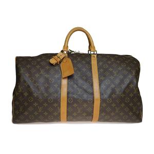 Auth Louis Vuitton Monogram M41424 Keepall 55 Boston Bag