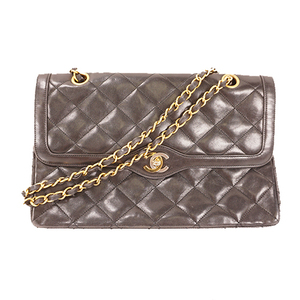 Auth Chanel Matelasse W Chain Shoulder Paris Limited
