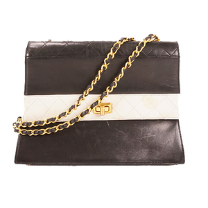 Auth Chanel W Chain Shoulder Bag