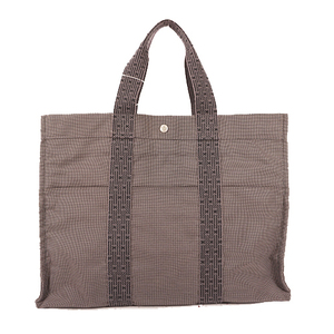 Auth Hermes Her Line  Handbag Tote Bag Gray